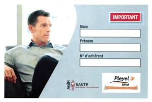 Exemple de la carte d'assistance IMA (verso)